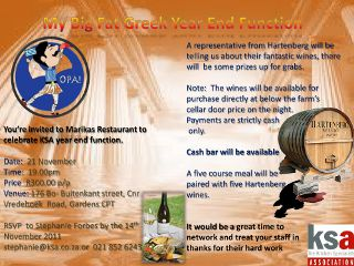 KSA Western Cape invites members to their Year End Funciton