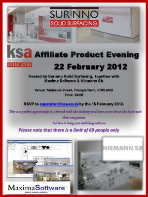 KSA Western Cape invites you to their first affiliate product evening of 2012
