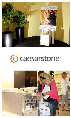 Congratulations to the winner of the Caesarstone Shamwari competition in CT