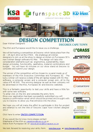 Last chance to enter the KSA & Furnspace/KDMax Design a kitchen competition