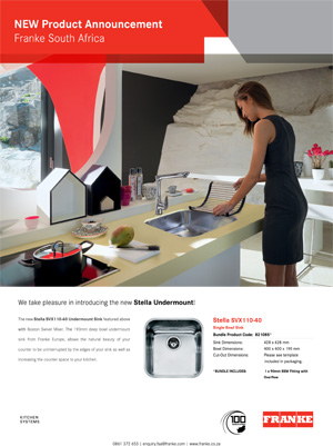 Franke launches new undermount sink