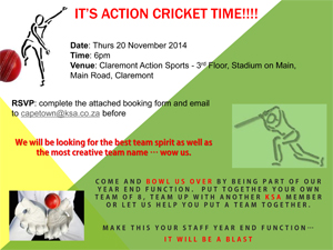 Ksa news industry news and member news join ksa ct for some action cricket stopboris Gallery
