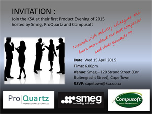 Join KSA CT for their 1st product evening for 2015