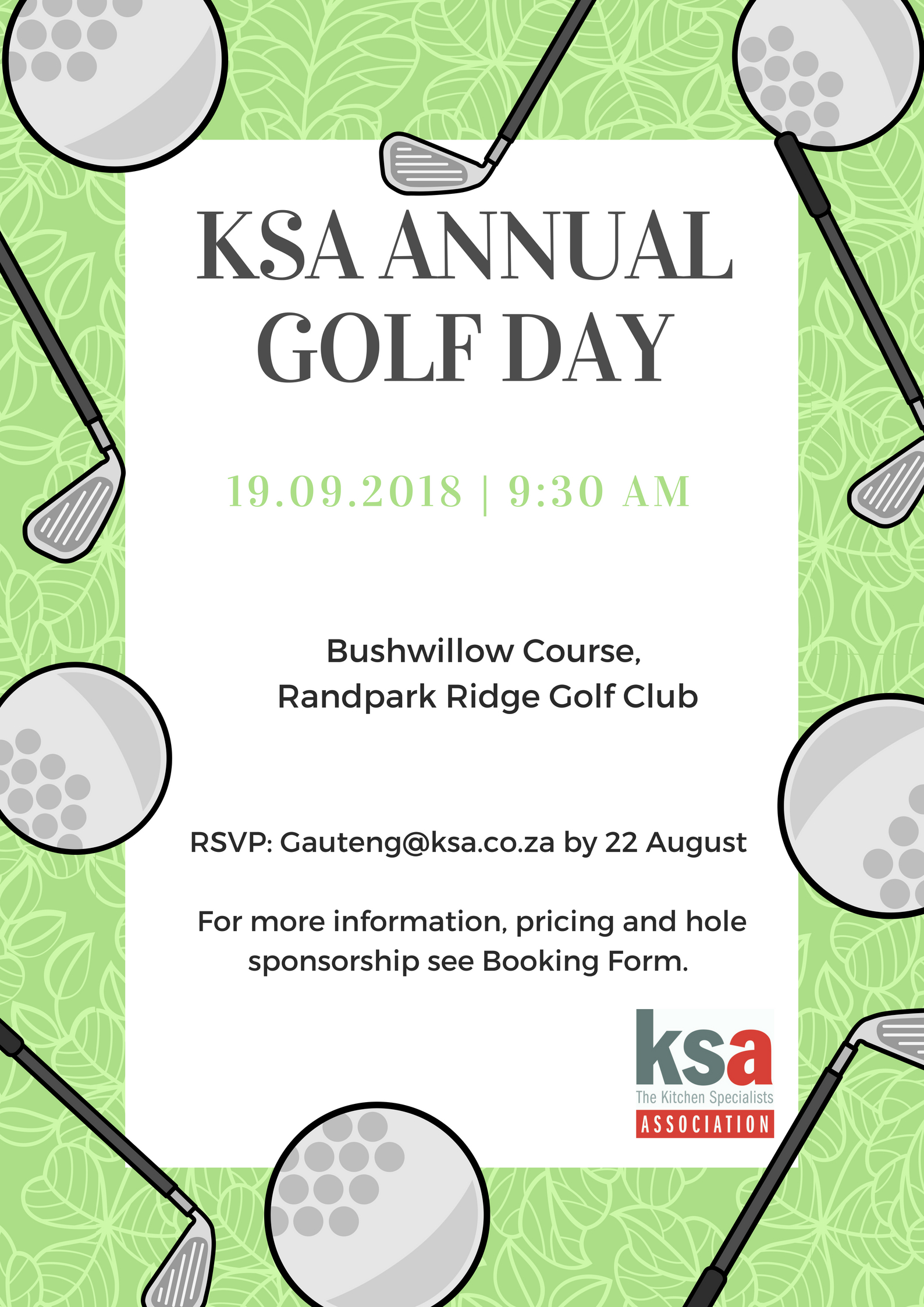 KSA Gauteng Golf Day