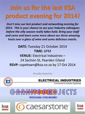 Join us at the last KSA CT product evening for 2014
