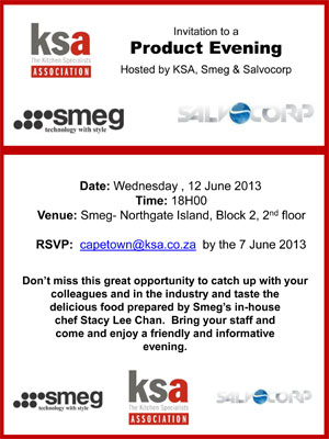 Join KSA CT at their first product evening for 2013