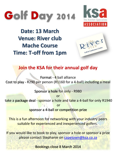 Booking open for KSA CT golf day