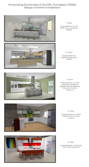 Announcing the winners of the KSA, Furnspace, KDMax 'Design a kitchen' competition
