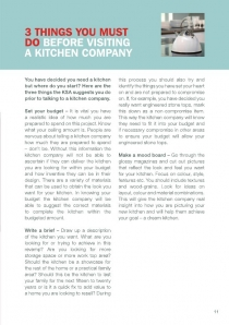 3 things to do before consulting a kitchen company