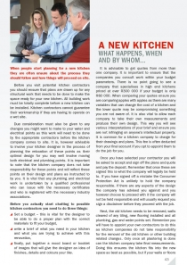 A New Kitchen - What happens, when and by whom...