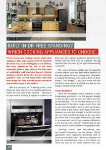 Built in or Free Standing? Which Cooking Appliances to Choose