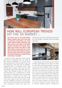 How will European trends hit the SA market…