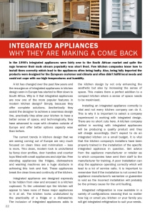 Integrated appliances - why are they making a come back?