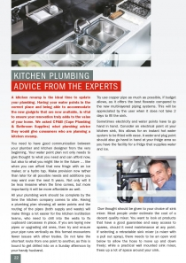 Kitchen Plumbing Advice from the Experts