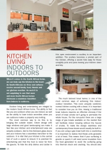Kitchen Living - Indoors to Outdoors