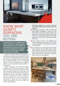 Know what Quartz Surfacing you are buying