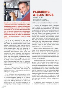 Plumbing  & Electrics - What you should know…