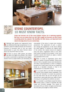 Stone Countertops.  10 Must Know Facts.