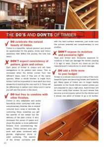 The Dos and Donts of Timber