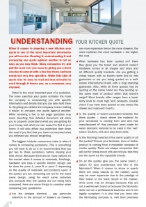 Understanding Your Kitchen Quote