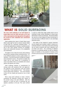 What is Solid Surfacing