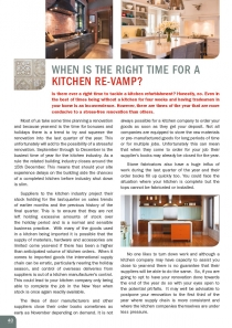 When is the Right Time for a Kitchen Re-vamp?
