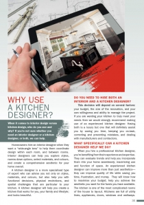 Why use  a Kitchen Designer?