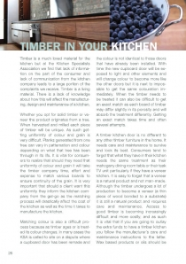 Timber in your kitchen
