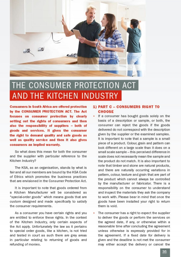 The Consumer Protection Act and the Kitchen Industry