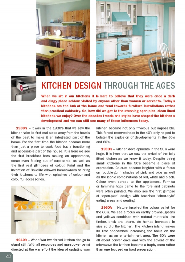 Furniture Design Through The Ages kitchen industry information