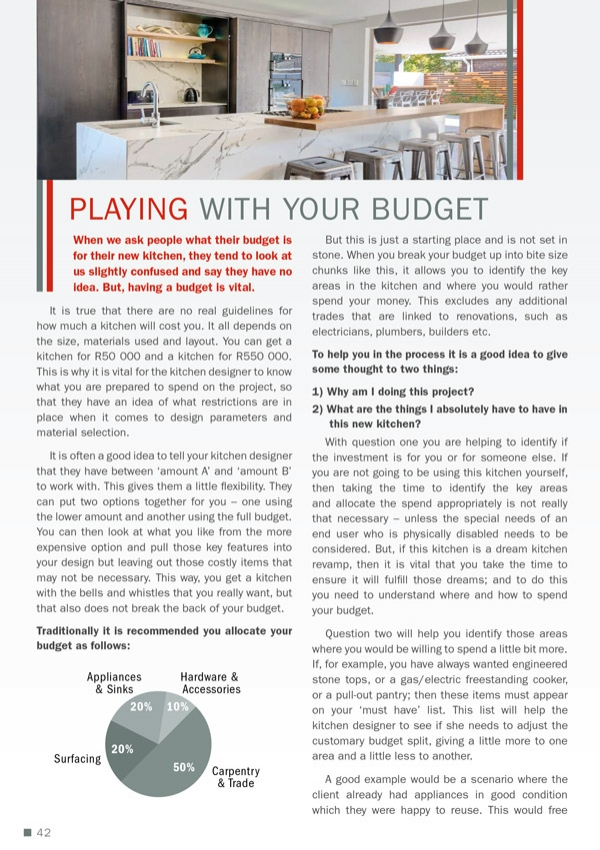 Playing with your Budget