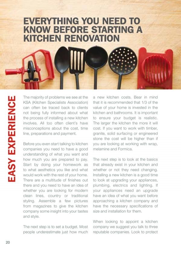 Kitchen Industry Information