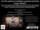 Book now for the KSA CT appliance installation course hosted by Smeg