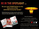 Members - your kitchen could be on the cover of the KSA consumer guide