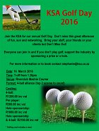 Book now for the KSA CT golf day