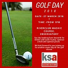 Bookings are open for the KSA CT Golf day