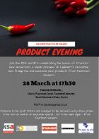 Invitation to KSA Gauteng's first product evening of 2019
