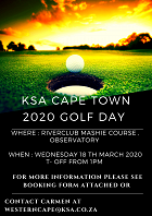 Bookings are open for the KSA Cape Town Golf day 2020