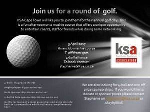 Invitation to join the KSA CT annual golf day