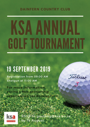 KSA Gauteng Annual Golf Day - Bookings are OPEN!