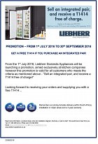 Liebherr's exclusive offer to the kitchen industry